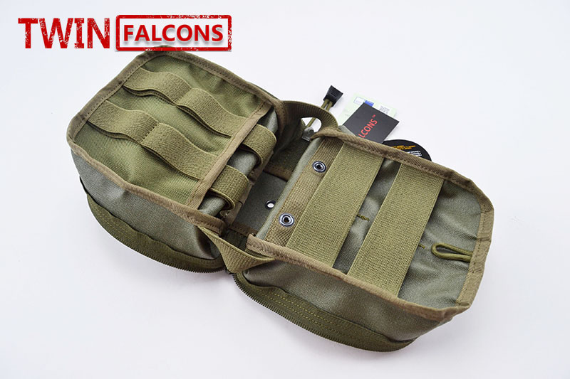 TWINFALCONS MOLLE Medical First Aid Kit Pouch EMT Pouch CORDURA Modular Combat Hunting Camping Tactical Hike P017 ...