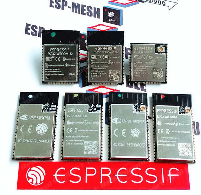 ESP32 ESP32 WROOM 32 32D 32U 32E 32UE ESP32 WROVER I IB B E IEโมดูลEspressifเดิม