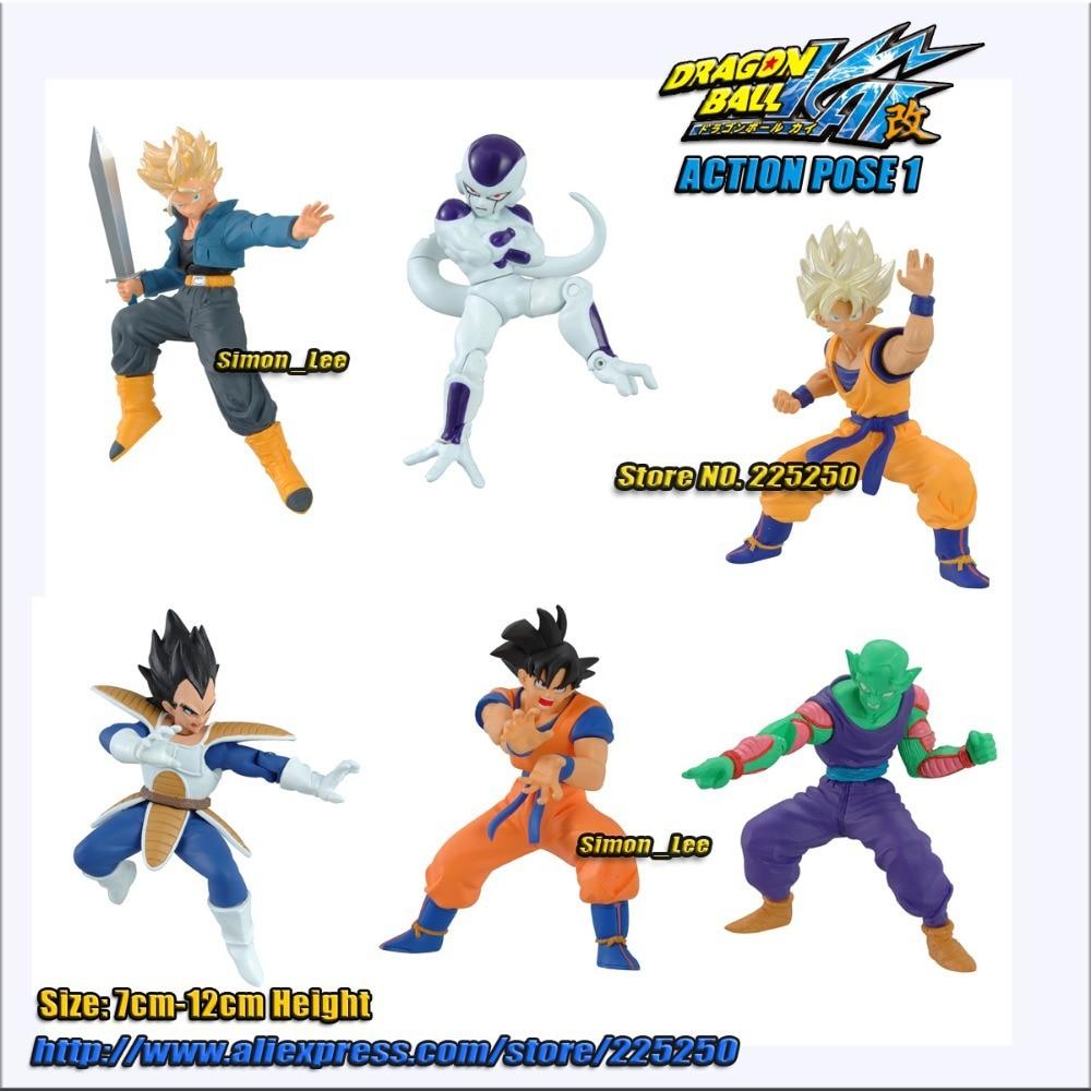 6  Pc DBZ  Gachapon Figure Set Dragon Ball Z