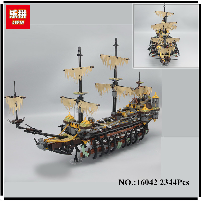 IN STOCK Lepin 16042 2344PCS Movie Series Pirate Ship The Slient Mary Set Children Educational Building Blocks Bricks Toy Model lepin 16042 pirates of the caribbean ship series the slient mary set children building blocks bricks toys model gift 71042