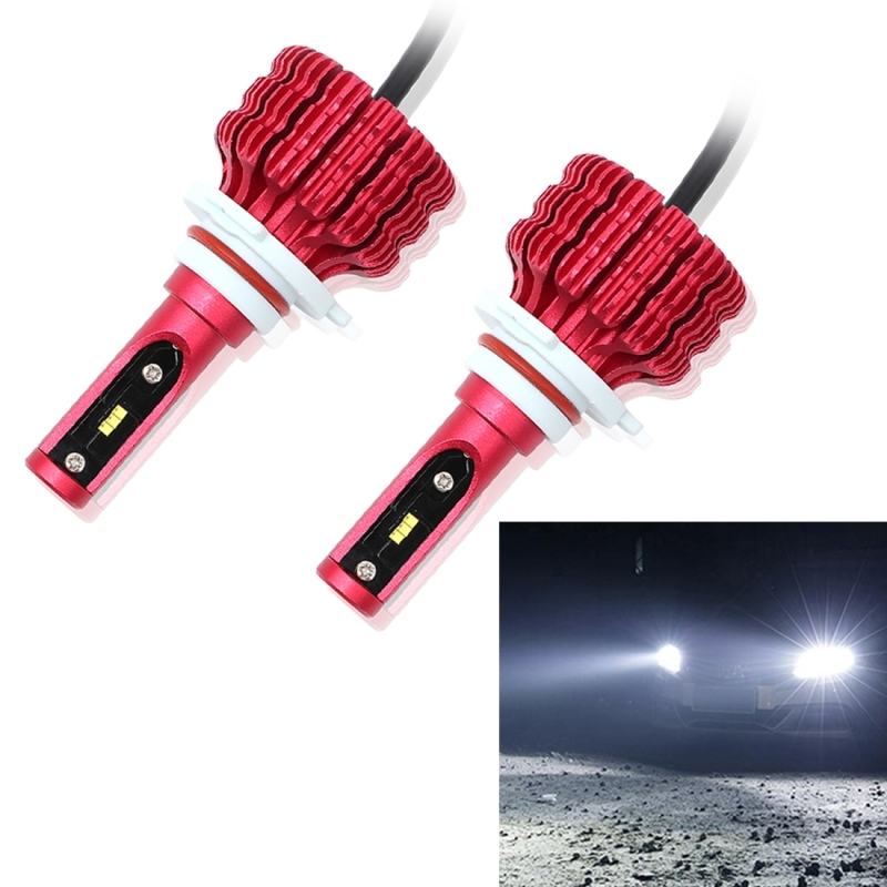 2 PCS X9 H1 H3 H4 H7 H11 H16 9006 9005 18W 1800LM 6000K White Light 6 JES2016 LED Car Headlight Lamps, Red Shell, DC 10-30V hfw01 h7 750lm 80w 16 led 6000k white light car fog lamps dc 12 24v 2 pcs