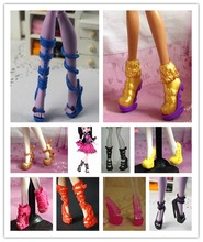 O for U 20 Pairs Lot Toy High Quality Boots Sandals Shoes For Monster Dolls Multi