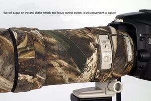 Image 5 - ROLANPRO Lens Kamuflaj Ceket yağmur kılıfı Canon EF 100 400mm f4.5 5.6 L IS USM Lens Koruyucu kılıf Lens koruma kollu