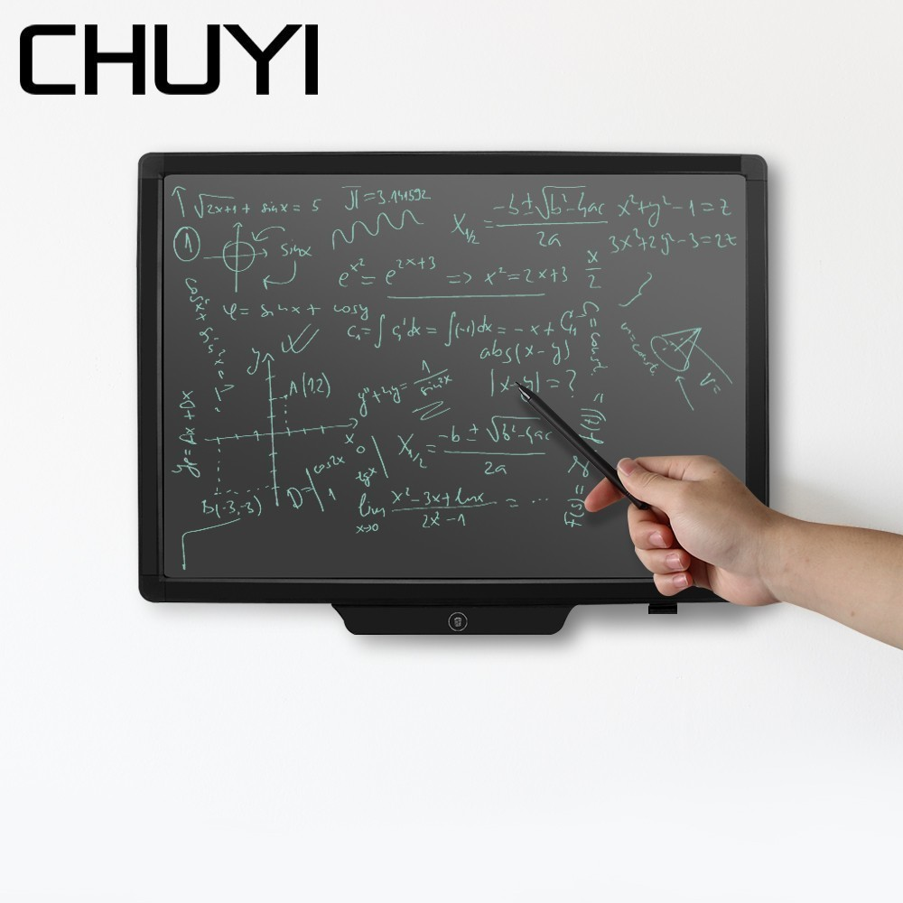 "CHUYI 20"" Graphic Drawing Tablet Handwriting Electronic LCD Writing Blackboard Portable Notepad Drawing Tablet with Stylus Pen"