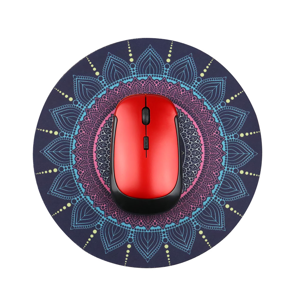 1PCS Vintage Bohemian Round Computer 3D Game Carpet Mouse Pad Mat Anti Slip Mousepad