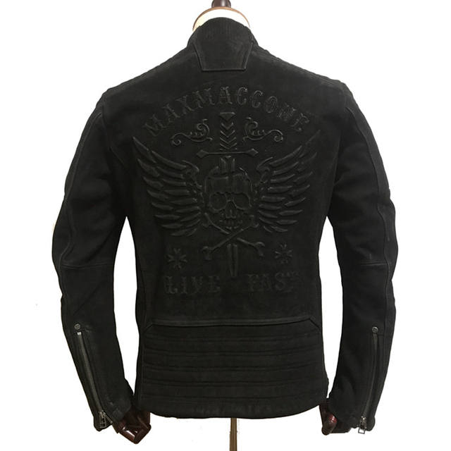 LIVE FAST SKULL GENUINE COW LEATHER JACKET