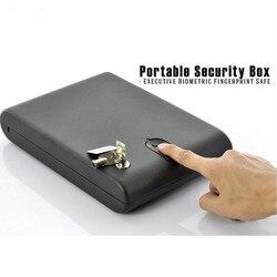 Biometrische Vingerafdruk Kluis Massief Staal Beveiliging Gun Key Kostbaarheden Sieraden Doos Portable Security Biometrische Vingerafdruk Doos