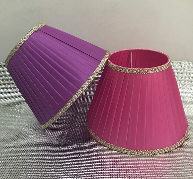 Lamp Shade For Table Lamps Lace Simple Pattern Textile Fabrics Decorative  Straight Stripe Pink /purple
