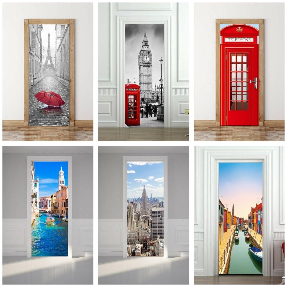 Torre de Francia Big Ben Cabina de teléfono roja Iglesia de coche - Decoración del hogar
