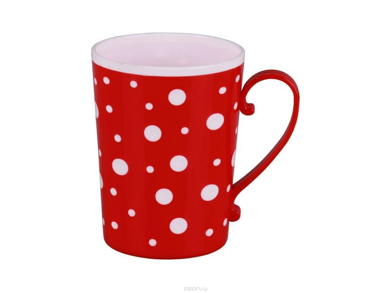 Mug Alternative, Polka Dot, 350 ml, Red polka dot sheer tights