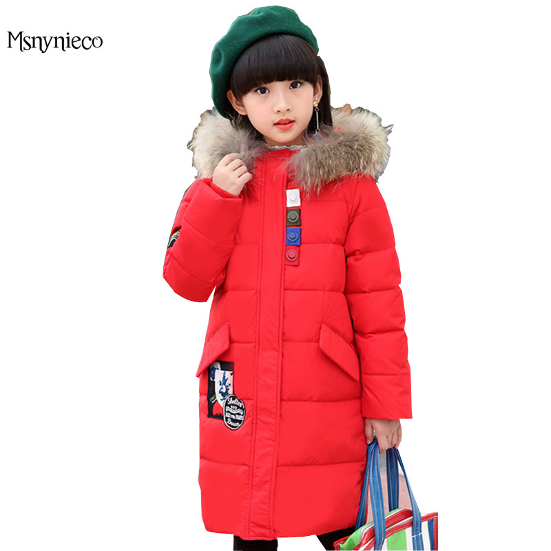 Children's Winter Jackets for Girls 2017 Brand Casual Child Coat Hooded Kids Down Jackets Girl Outerwear Coats Children Clothing fashion girl thicken snowsuit winter jackets for girls children down coats outerwear warm hooded clothes big kids clothing gh236