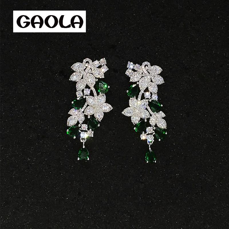 2016 Cheap Price Fashion Jewelry New Design Zircon Earrings for Women or Girls GLE5481
