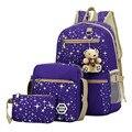 Свежий рюкзак Высокое качество износостойких холст ранцы для учащихся средних школ, Ловкие большой емкости школьные сумки