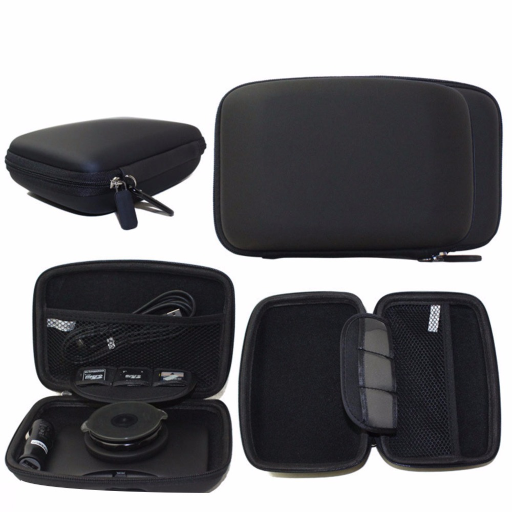 6 Inch PU Hard Shell Carry Bag <font><b>Case</b></font> Cover In Car <font><b>Sat</b></font> <font><b>Nav</b></font> Holder For GPS TomTom Start 60 Garmin Protection Cover Pouch qiang image