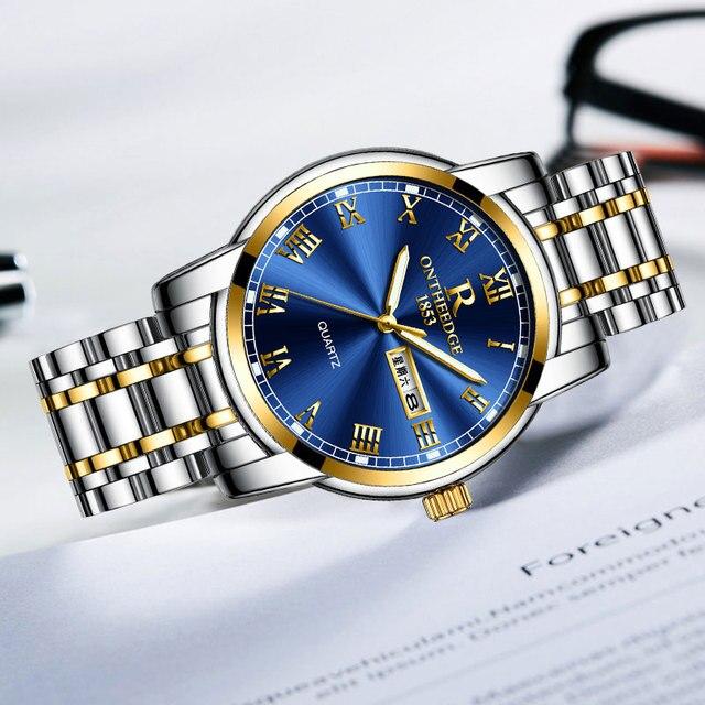 Stainless steel Waterproof Business Date Analog Wrist watch 3