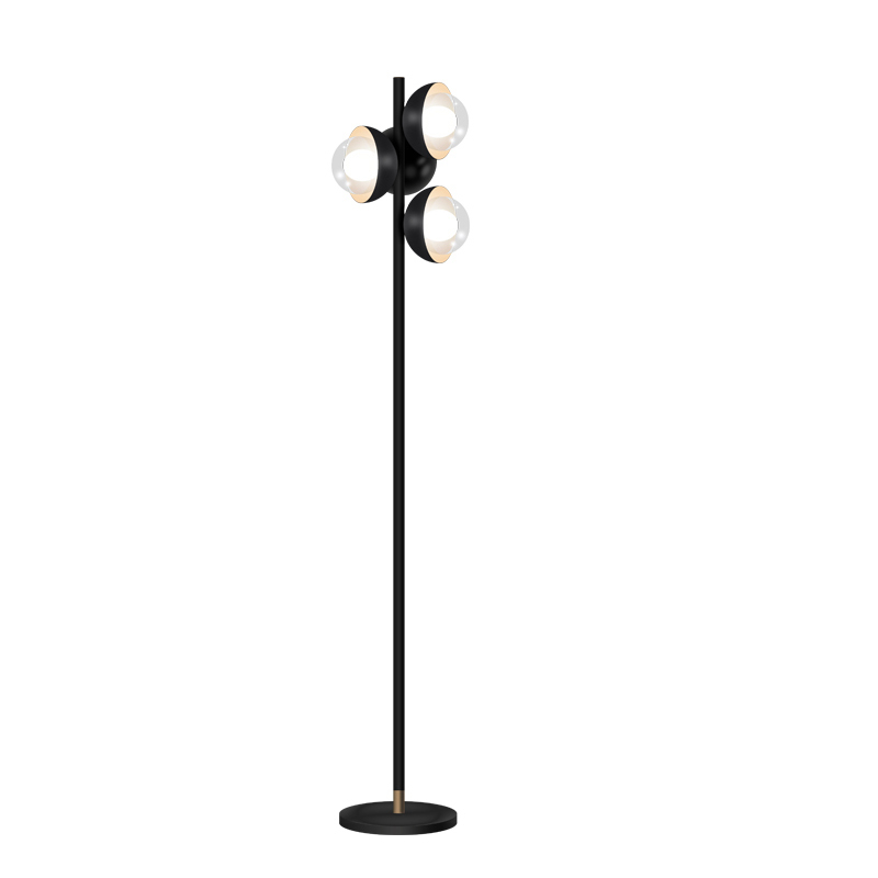 Kung Simple Moderne lampadaires noir couleur corps clair galss abat-jour Creative Nuit debout lampe G9 led ampoule post moderne lumière