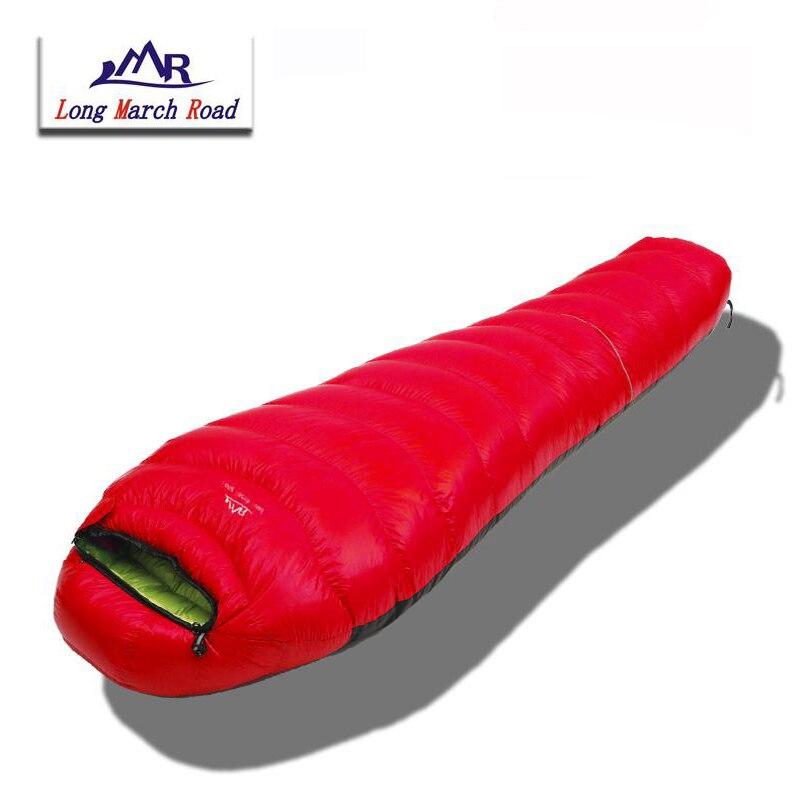 LMR Mummy Style White Goose Down 1500G Filling Ultralight Waterproof Can Be Spliced Sleeping Bag Sac De Couchage Slaapzak