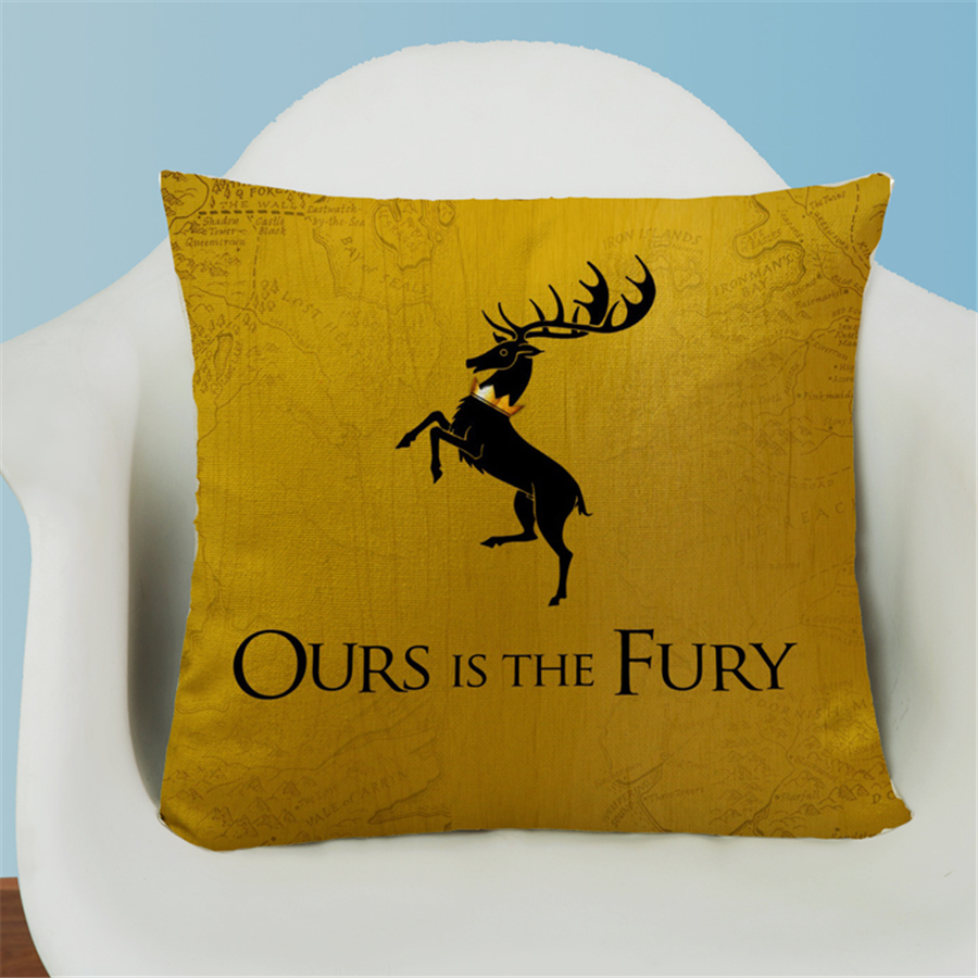 Game of Thrones Movie Europe Nordic Style Decorative Bed Sofa Chair Cushion Cover Home Decor Sofa Throw Pillow Case 45x45cm e825