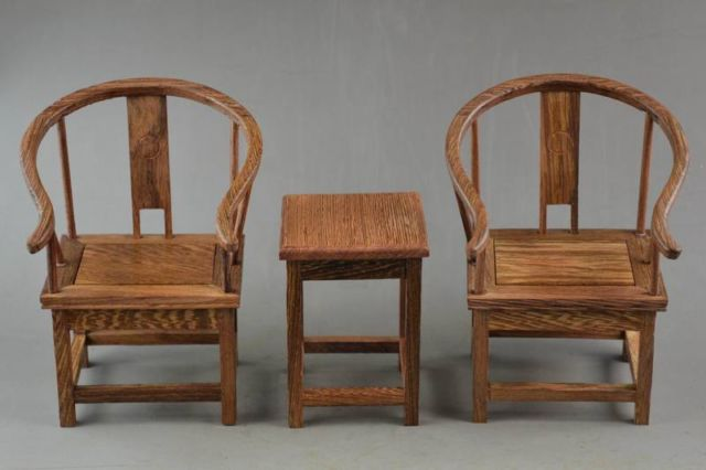 ( Mini ) Exquisite Interesting Old Chinese Handwork Rosewood Carving Lucky  Set Of Table & Chair Model - Antique Rosewood Chairs Reviews - Online Shopping Antique Rosewood