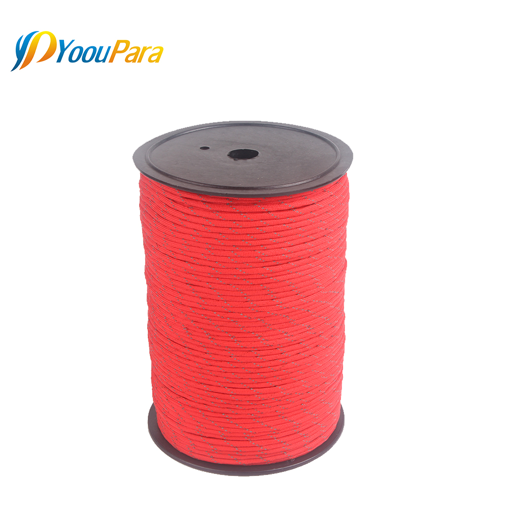 Image 5 - 10 Colors 1000FT Spools Reflective Paracord Rope 7 Strands For Camping Outdoor Survival Equipment DHL Free 12pcs/lot WholesaleParacord   -
