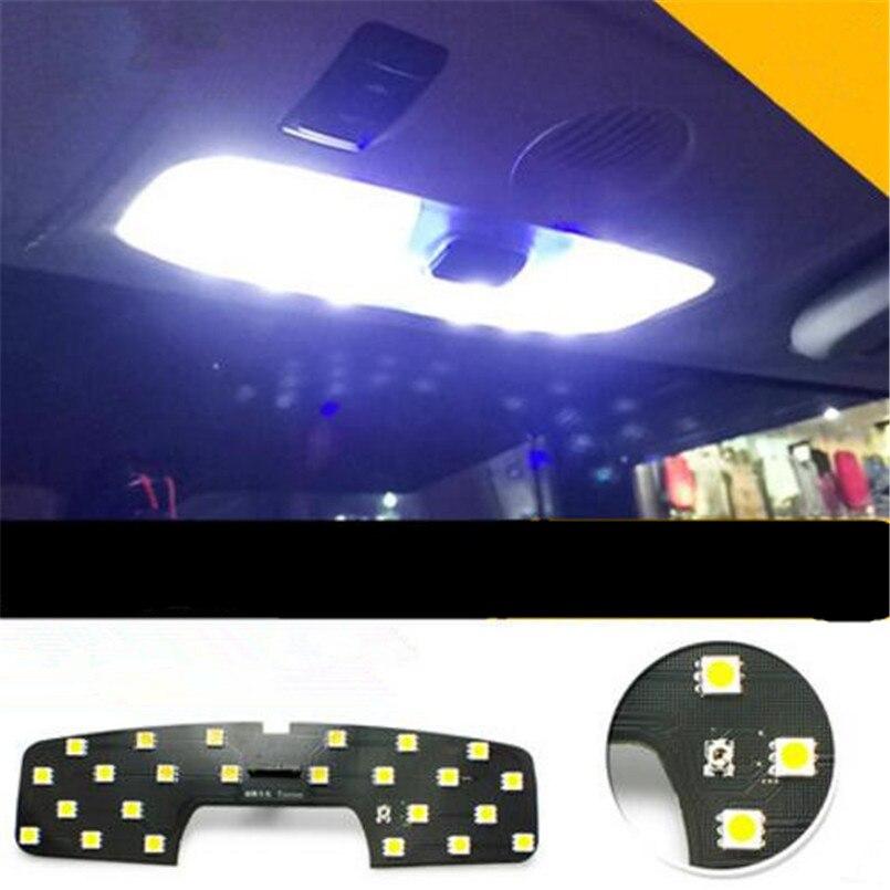 Voiture-style LED lecture toit de la lampe led lampe de voiture intérieur lumière modifier cas pour FORD Focus 2 MK2 Fiesta Ecosport 2005-2014