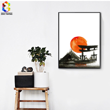 ZeroC Japanese Art Print Ink Painting Wall Hanging Poster Picture for Living Room Decoration Home decor zeroc japanese ink canvas art print poster zen wall paintings for living room decoration home decor