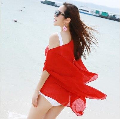 Tokitind Новое лето шифон Печатные Свободный кардиган платок женский тонкий пляж Шарфы для женщин шарф кардиган шифон сексуальное бикини Cover Up