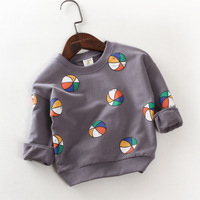 Girls T Shirt 2017 New Little Boys Spring Top Sweatshirt For Baby Kids Casual Football Printed