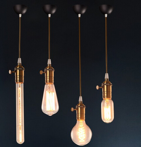 Loft Style Droplight Edison Industrial Vintage Pendant Lights Fixtures Hanging Lamp For Bar Home Lighting Lamparas Colgantes edison inustrial loft vintage amber glass basin pendant lights lamp for cafe bar hall bedroom club dining room droplight decor