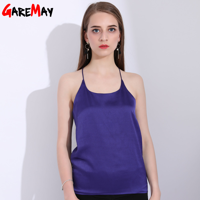 Womens Ladies Sexy V Neck Crop Top Striped Back Summer Sleeveless Shirt Blouse Tanks Camiseta Tirantes Mujer Gb2 Uhren & Schmuck