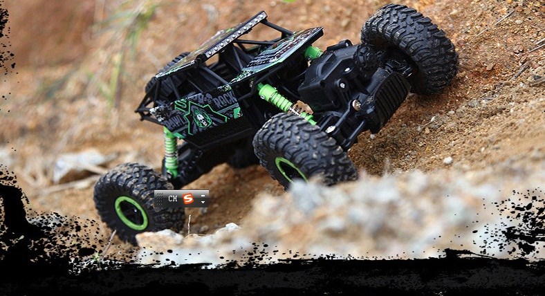 RC Car 4WD Rock Crawlers 4×4 Driving Car Double Motors Drive Bigfoot Car Remote Control Model Off-Road Vehicle Toy