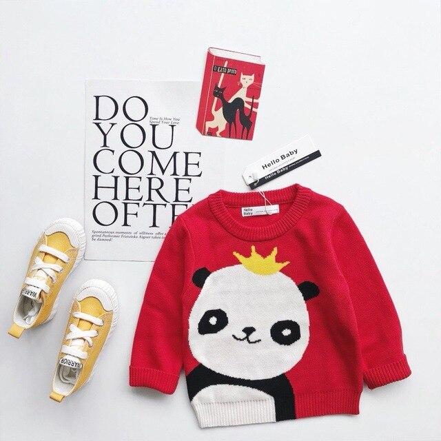 595d9264c2e2 kids sweaters baby girl clothes Cartoon panda pattern long sleeve ...