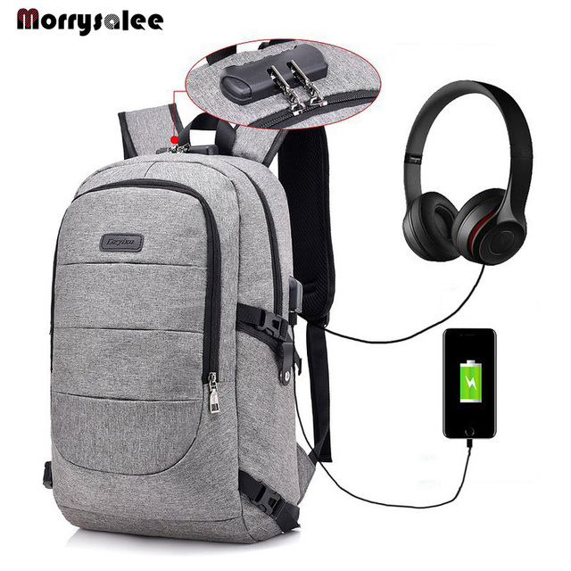 Fashion Man Laptop Backpack USB Charging Computer Backpacks Casual Style Bags Large Male Business Travel Bag Students Large