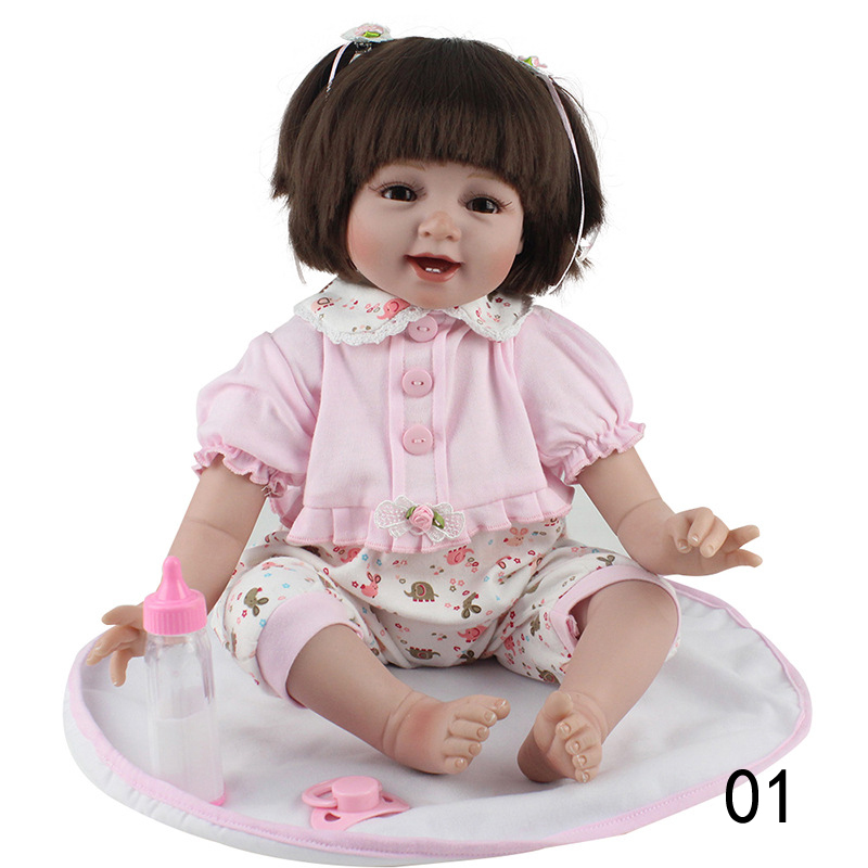 Baby Doll Handmade Soft Silicone Vinyl Reborn Dolls Realistic Toddler Doll Toys for Children Christmas Collection handmade chinese ancient doll tang beauty princess pingyang 1 6 bjd dolls 12 jointed doll toy for girl christmas gift brinquedo