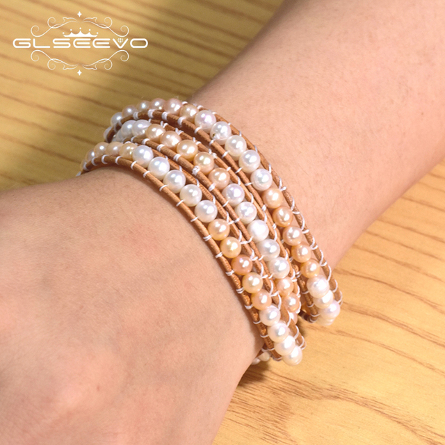 женский кожаный браслет glseevo вечерние кожаные браслеты белого фотография