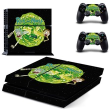 Anime Rick and Morty PS4 Skin Sticker Decal Vinyl for Sony Playstation 4 Console and 2 Controllers PS4 Skin Sticker