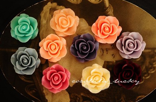 21mm resin cabochon bead flowers rose jewelry/mobilephone decoration DIY Handmade Accessories wholesale 100pcs/lot