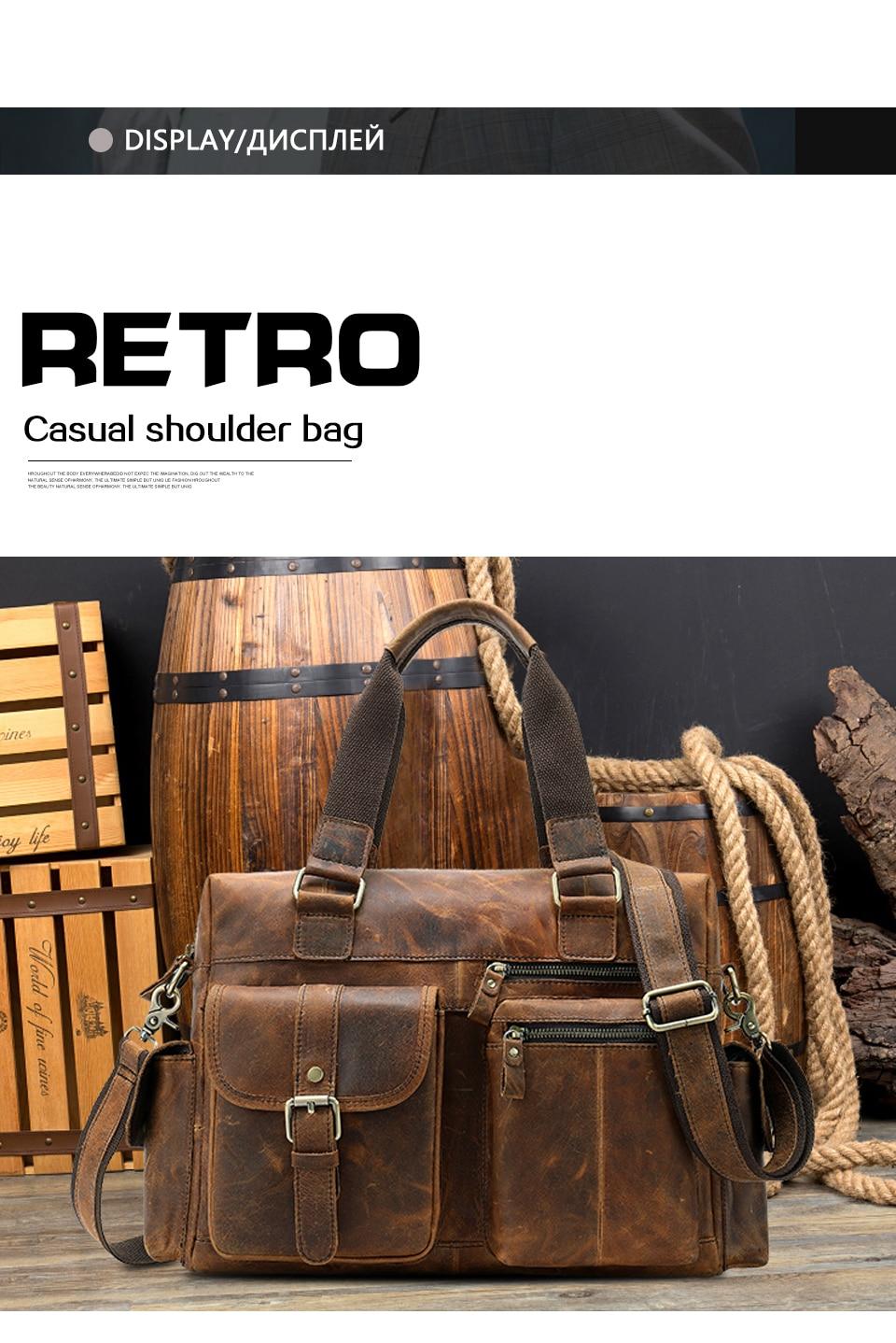 HTB1NRnQX5HrK1Rjy0Flq6AsaFXaD MVA Genuine Leather Men's Briefcase Messenger Bag Men's Leather Laptop Bag For men Office Bags For Men Briefcase Handbags 8537