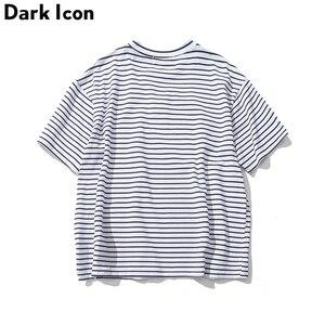 Image 4 - Darkไอคอนกุหลาบเย็บปักถักร้อยลายMensเสื้อยืดแขนสั้น2019ฤดูร้อนHi Streetขนาดใหญ่Hip Hop Tshirtผ้าฝ้ายTeeเสื้อ