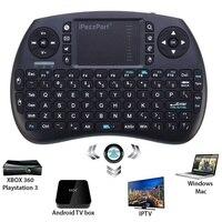 Mini Bluetooth Klavye Kablosuz Klavye Fare Combo QWERTY Için Uzaktan Kumanda Touchpad Fly Air Fare Google Android TV Kutusu