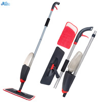 Household Multifunction ABS+PP Hook&Loop Type Water Spray Extruded Handle Flat Mop 360 Degree Rotating Mop Kitchen Cleaning Tool