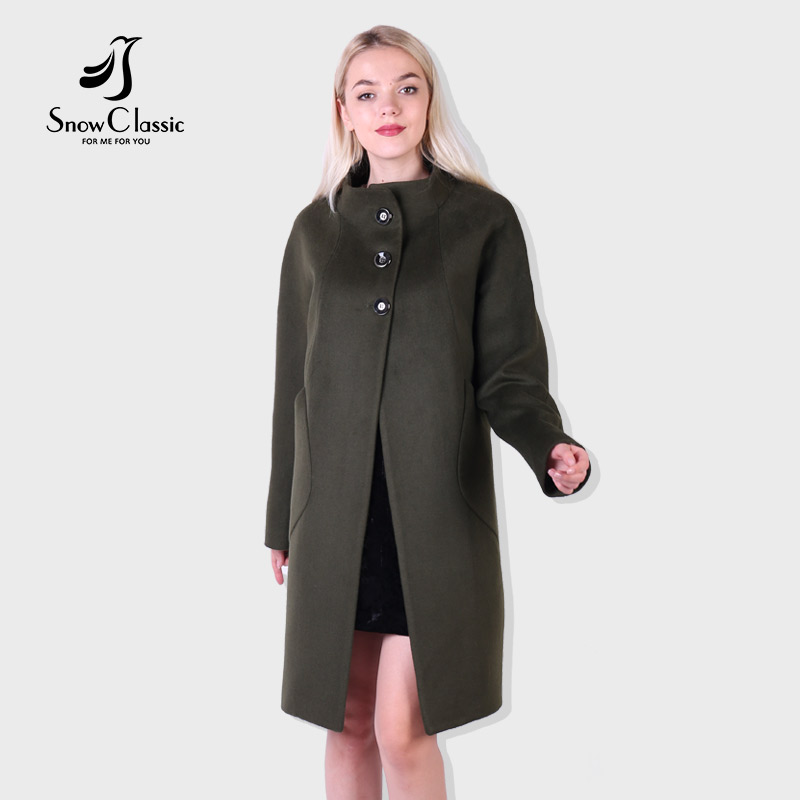 2018 Snow Classic new ladies cashmere coat warm fashion comfortable high-end fabric large size loose long trench coat
