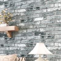 Chinese Retro Brick Pattern Wallpaper 3D Stereoscopic Wallpaper Bedroom Living Room Den Cultural Stone Wallpaper Papel
