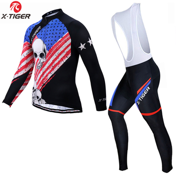 X-Tiger Winter Long Sleeve Cycling Set Winter Keep Warm Bike Clothing Maillot Ropa Ciclismo Invierno Thermal Fleece Bicycle Wear
