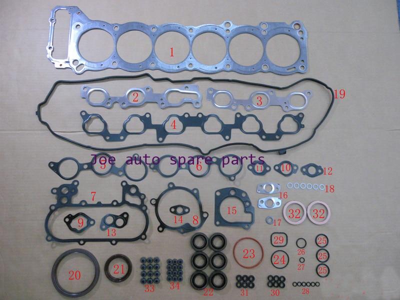 1FZ 1 1FZFE Moteur complet Joint Ensemble Complet kit pour Toyota LAND CRUISER/BUNDERA/100 4.5L 4477CC 1992-2006 10089700 11115-66031