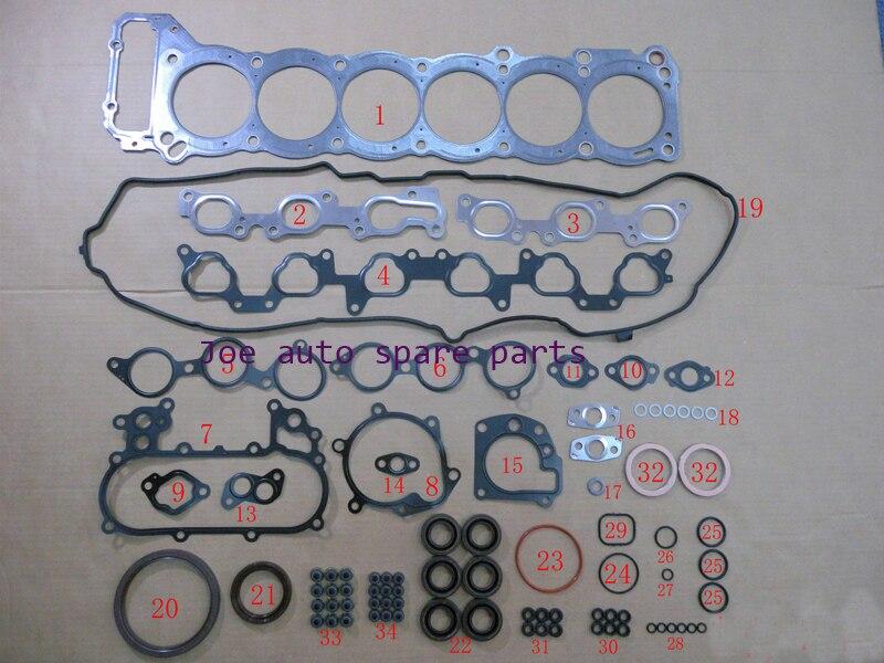 1FZ 1 1FZFE kit completo Do Motor Junta Conjunto Completo para Toyota LAND CRUISER/BUNDERA/100 4.5L 4477CC 1992-2006 10089700 11115-66031