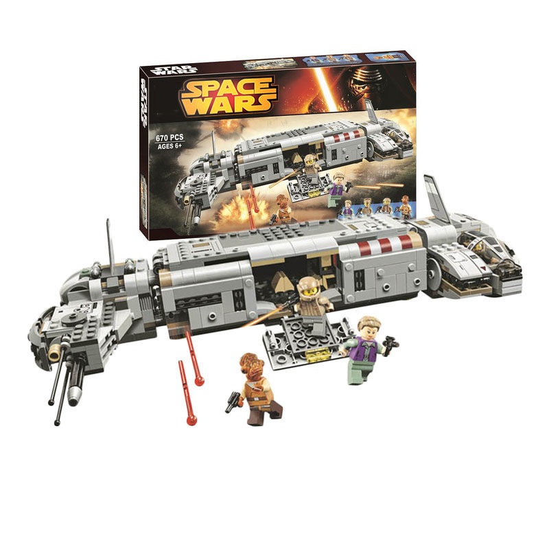 Bricks Model Building-Block Transporter Troop Gifts 75140 star-Series 670pcs-Resistance title=