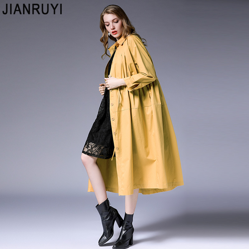 Large Size Women's Fat Mm2018 Autumn New Loose Silhouette Waist Waistcoat Long Section Thin Thin Coat 7028