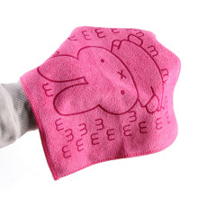 1pcs High Quality Cotton Gauze Newborn Baby Infant Cartoon Rabbit Face Hand Bathing Towel 25 25cm