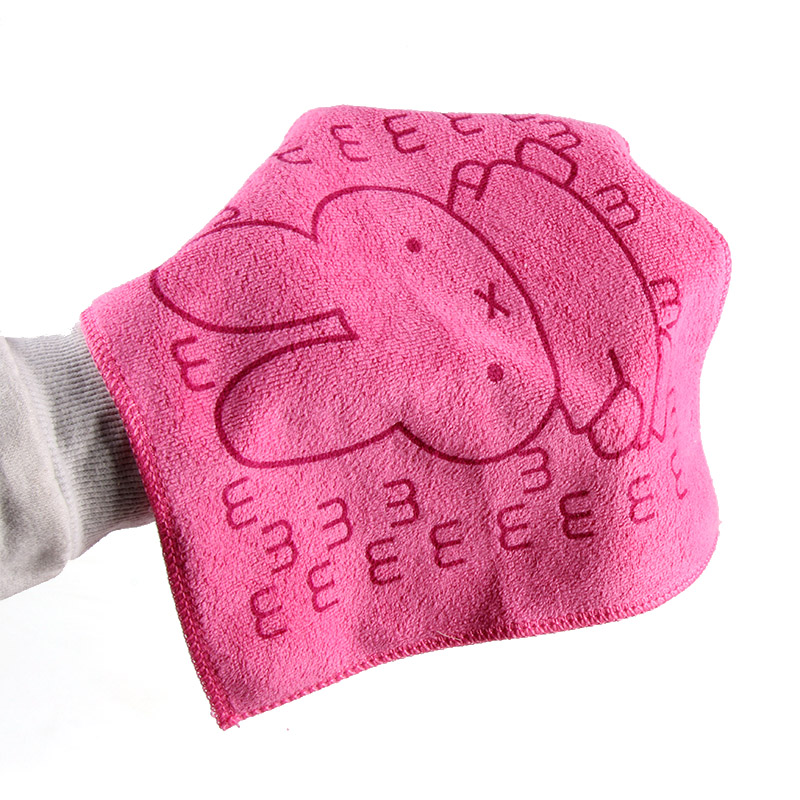 High Quality 100 Cotton Gauze Newborn Baby Infant Cartoon Rabbit Face Hand Bathing Towel 25 25cm